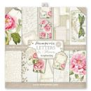Stamperia - Double-Sided 12 x 12 Inch Paper Pack - Letters & Flowers